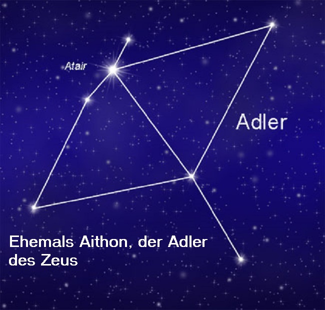 Aithon: Adler, der im Auftrag von Zeus jeden Tag an der Leber von Prometheus fraß Adler10