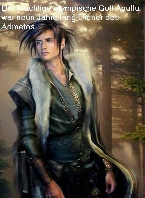 Admetos (Mythologie): Apollo war neun Jahre lang Diener des Admetos Admeto10