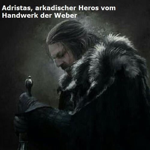 Adristas (Mythologie): Kulturheros / eponymer Heros von einem Handwerk Adrist10