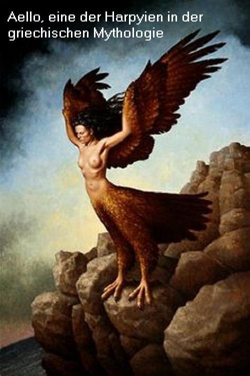 Aello (Mythologie): Harpyie (Dämon), Tochter des Thaumas und der Elektra Aello10