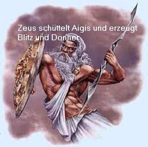 Aigis: Das goldene Ziegenfell / Schild, um Blitz, Donner und Nacht zu erzeugen Aigis10