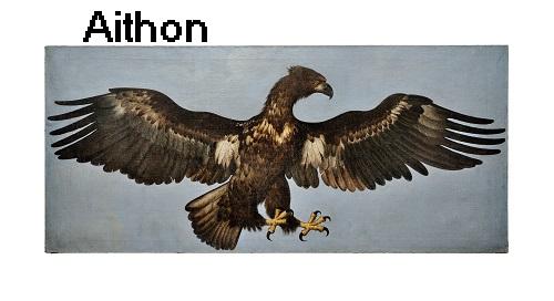 Aithon: Adler, der im Auftrag von Zeus jeden Tag an der Leber von Prometheus fraß Aithon10