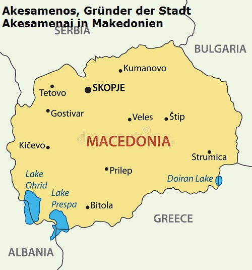 Akesamenos (Mythologie): Gründer der Stadt Akesamenai in Makedonien Akesam10