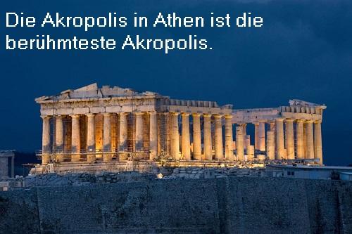 Akropolis: Wehranlage / Stadtfestung für Städte der mythologischen Antike Akropo10