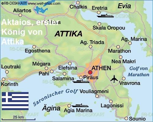 Aktaios (Mythologie): Erster König von Attika Aktaio11