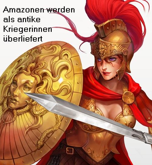 Flussgott Thermodon (Mythologie): Am Ufer des Thermodon sollen die Amazonen gelebt haben Amazon10