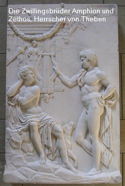 Zwillingsbrüder Amphion und Zethos (Mythologie): Herrscher von Theben Amphio10
