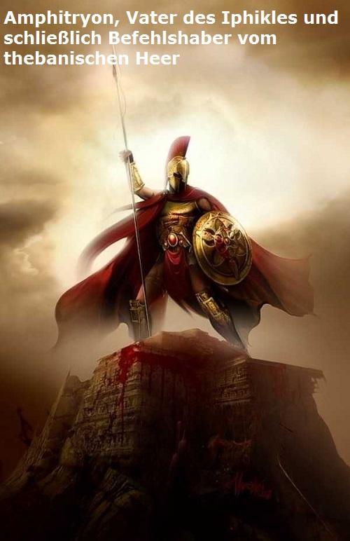 Amphitryon (Mythologie): Vater des Iphikles, Zwillingsbruder des Herakles Amphit12