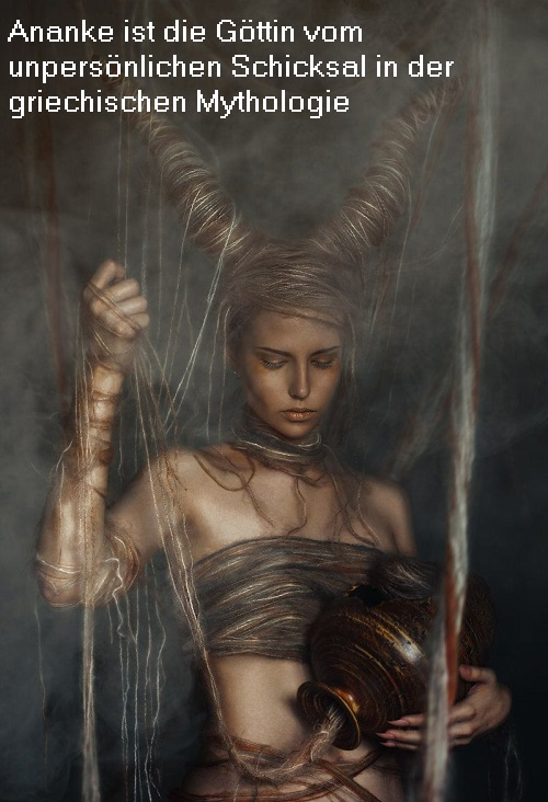 Ananke (Mythologie): Göttin vom unpersönlichen Schicksal Ananke10