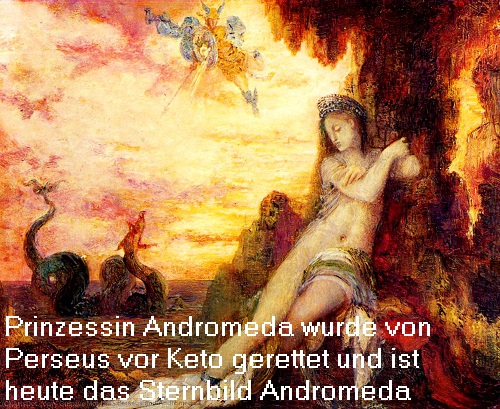 Andromeda, Tochter des Kepheus (Cepheus) und der Cassiopeia (Kassiopeia) Androm11