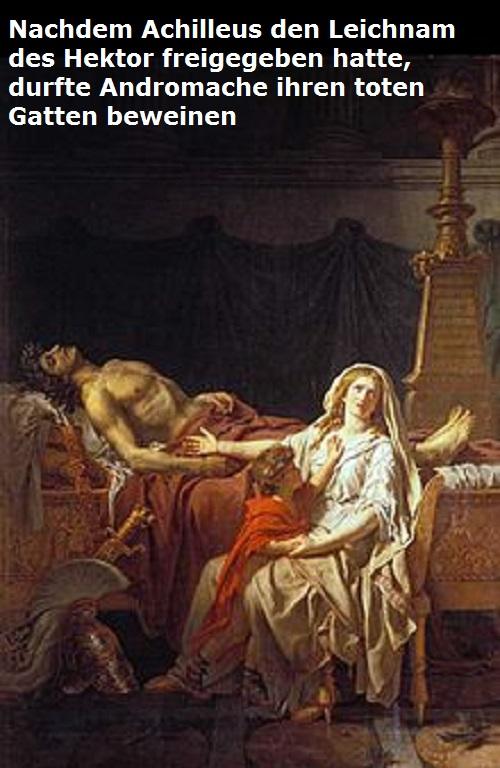 Andromache (Mythologie): Gemahlin des durch Achilleus getöteten Prinz Hektor Androm12