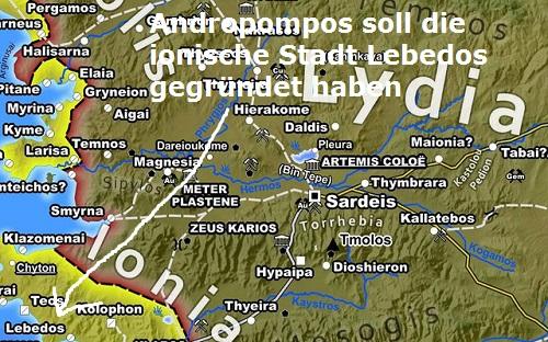 Andropompos (Mythologie): Gründer der ionischen Stadt Lebedos Androp10