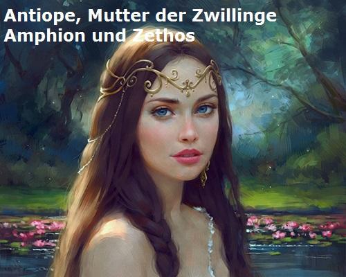 Antiope (Geschichte, Mythologie): Mutter der Zwillinge Amphion und Zethos Antiop10