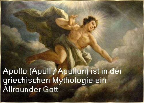 Apollo (auch Apoll / Apollon): Lichtgott, Gott der Künste, Heilung, Weissagung, etc. / Vorsteher vom Orakel von Delphi Apollo11