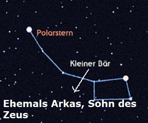 Arkas (Mythologie): Heute als Kleiner Bär am Himmelszelt Arkas10