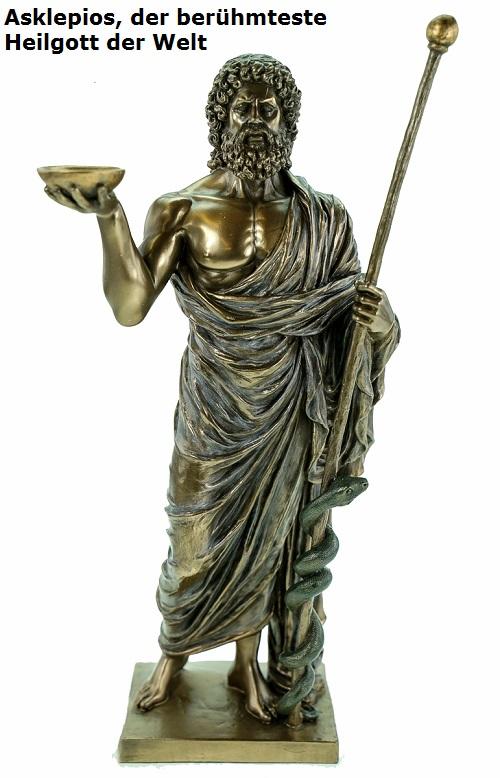 Asklepios: Gott der Heilkunst, Sohn des Apollo, von Zeus mittels Blitz getötet Asklep11