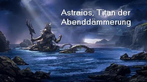 Astraios (Mythologie): Titan der Abenddämmerung, Vater der vier Anemoi und vom Morgenstern Astrai10