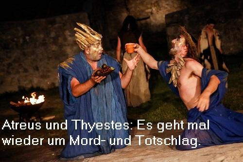 Atreus und Thyestes (Mythologie): Söhne des Pelops, wodurch Mord- und Totschlag garantiert ist Atreus10