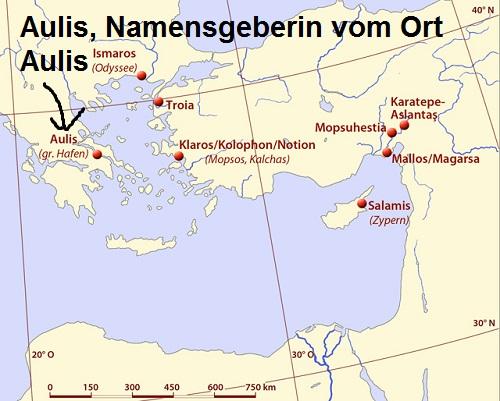 Aulis (Mythologie): Namensgeberin der Hafenstadt Aulis Aulis10