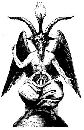 Gott Baphomet: Mischwesen mit Bestandteilen aus allen Religionen / Mythologien Baphom10