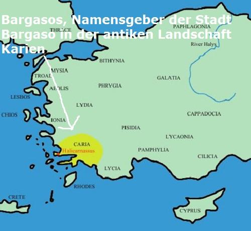 Eponymos Bargasos (Mythologie): Namensgeber der Stadt Bargasa Bargas10