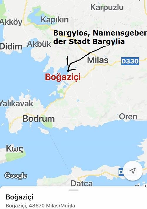 Bargylos (Mythologie): Namensgeber der Stadt Bargylia Bargyl10