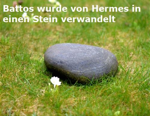 Battos (Hirte, Mythologie): Wurde von Hermes in einen Stein verwandelt Battos10