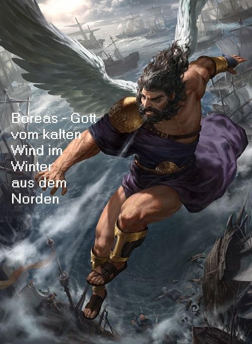 Boreas (Mythologie): Gott vom kalten Nordwind im Winter Boreas11