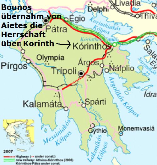 Bounos (Mythologie): Sohn des Hermes und König von Korinth Bounos10