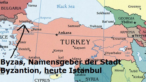 Byzas (Mythologie): Gründer und Namensgeber der Stadt Byzantion, heute Istanbul Byzas10