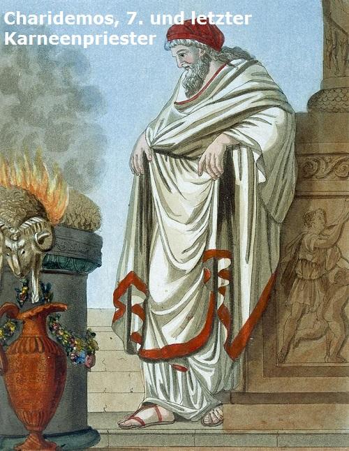 Charidemos (Mythologie): Priester des Apollo Karneios Charid10