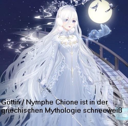 Göttin Chione (Mythologie): Tochter vom Windgott Boreas Chione10