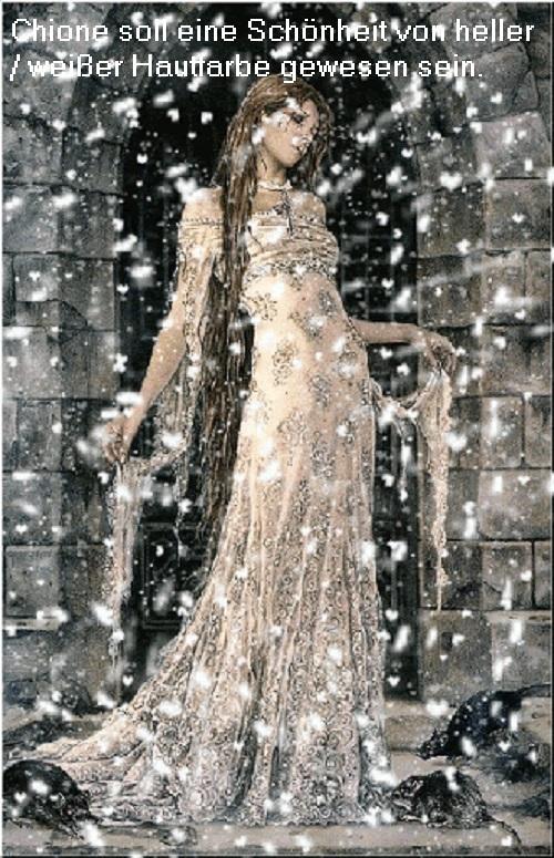 Chione (Mythologie): Tochter des Daidalion und Mutter des Autolykos Chione11