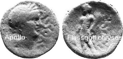 Chrysas (Mythologie): Flussgott vom Fluss Chrysas in Sizilien Chrysa11