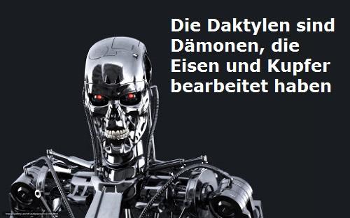 Daktylen (Mythologie): Dämonen vom Eisen und Kupfer / Ida Gebirge Daktyl10