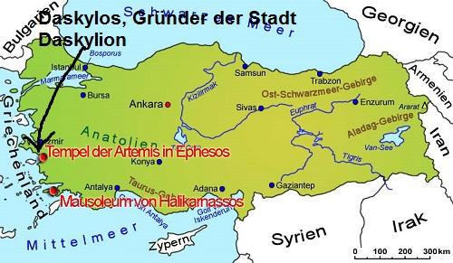 Daskylos (Mythologie): Gründer der Stadt Daskylion Daskyl11