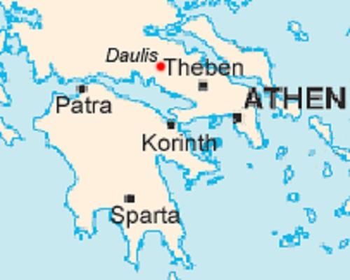 Daulis (Mythologie): Tochter des Kephissos, Crinaeae Najade (Quellnymphe) Daulis11