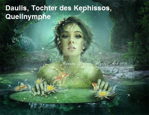Daulis (Mythologie): Tochter des Kephissos, Crinaeae Najade (Quellnymphe) Daulis12