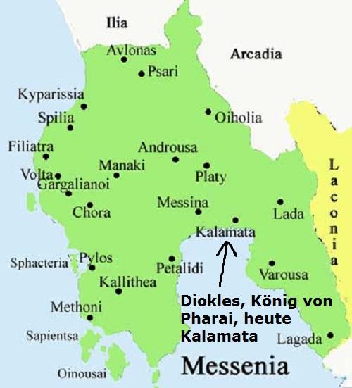 Diokles (Mythologie): König von Pharai, heute Kalamata Diokle10