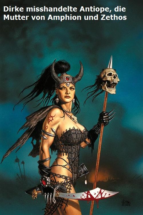 Dirke (Mythologie): Antiope wurde von Dirke misshandelt Dirke10