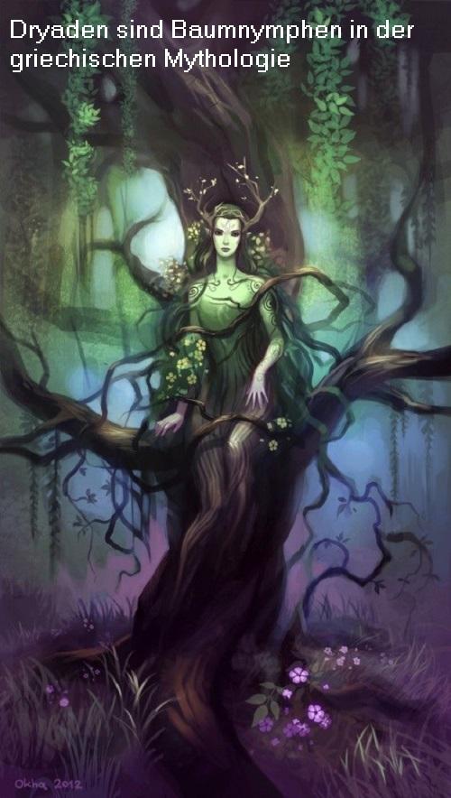 Dryaden und Hamadryaden (Mythologie): Nymphen der Bäume Dryade10