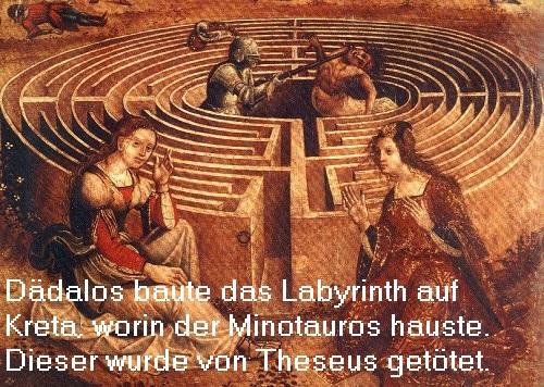 Dädalos (Daidalos) Mythologie: Wird als genialer Erfinder überliefert im Zusammenhang mit der minoischen Zeit Dzidal10