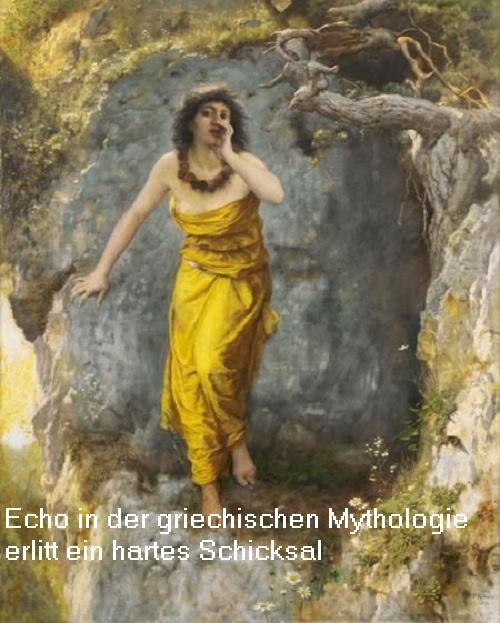 Echo (Mythologie): Bergnymphe, die im Auftrag des Zeus der Hera Geschichten erzählte Echo10