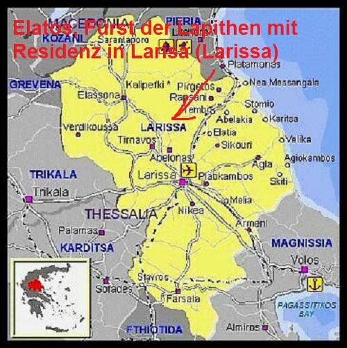 Elatos (Mythologie): Fürst der Lapithen in Thessalien Elatos10