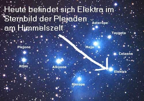 Elektra (Mythologie): Mutter des Dardanos, heute als Plejade am Himmelszelt Elektr11