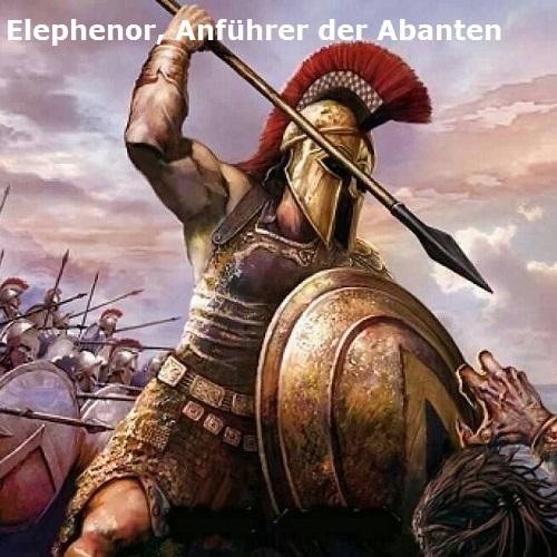 Elephenor (Mythologie): Anführer der Abanten Elephe10