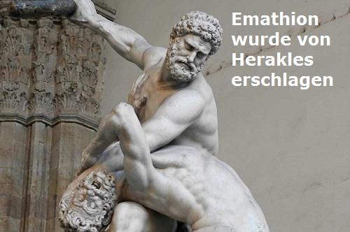Emathion (Mythologie): Sohn der Eos und des Tithonos Emathi10