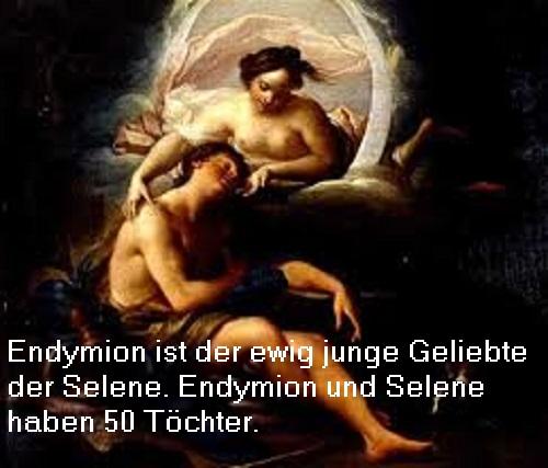 Endymion (Mythologie): Sohn der Kalyke, Geliebter der Selene Endymi10