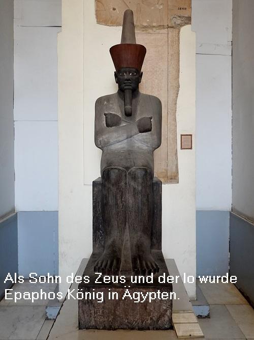 Epaphos ist ein Sohn des Zeus und der Io und hat gemäß Aischylos eine schwarze Hautfarbe Epapho10