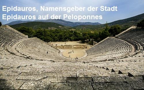 Epidauros (Mythologie): Namensgeber der Stadt Epidauros Epidau10